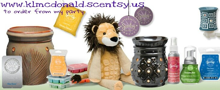 Start shopping and get 10% off before my party ends on the 10th.  www.klmcdonald.scentsy.us