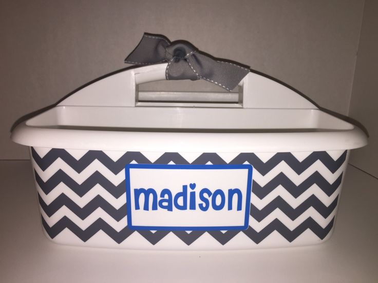 Personalized Chevron Shower Caddy. Great Graduation gift for your dorm room! Perfect organizer for overnight camp by MonogramCollection on Etsy