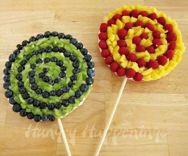 Lolipop fruit candy party ideas