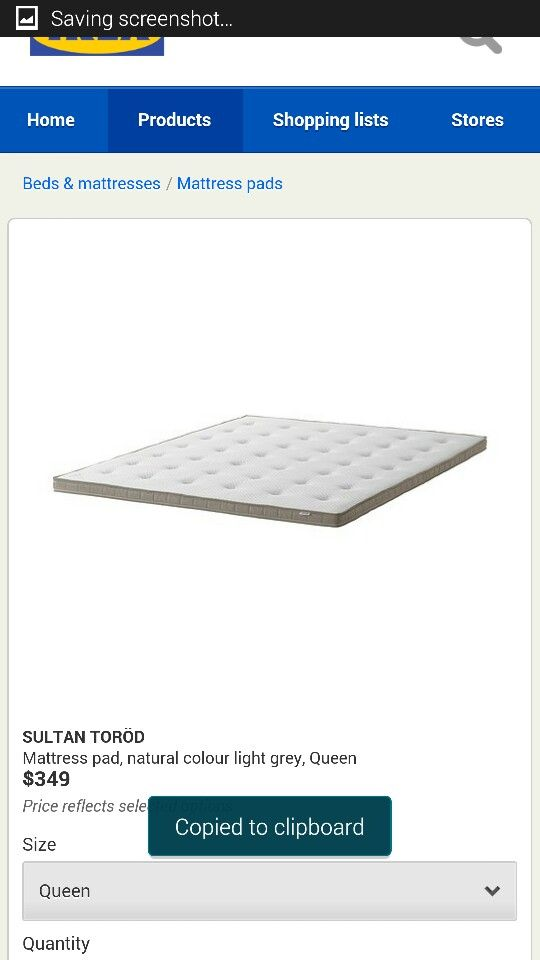 Ikea  queen mattress pad (or lkea gift voucher)