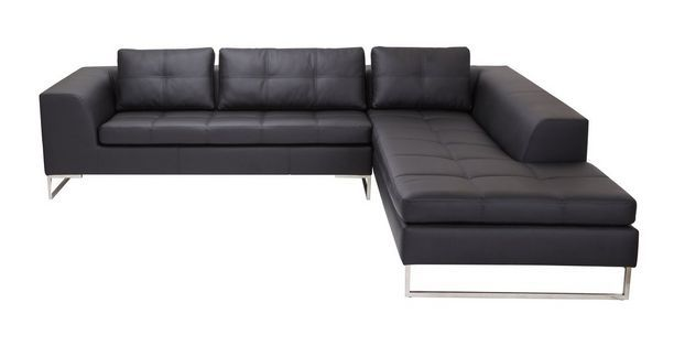 Napoli Leather Look Fabric Left Arm Facing Corner Sofa