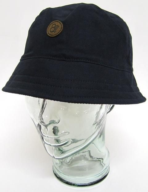 80s Casuals - Olympico Reversible Bucket Hat in Navy,bucket hat for men