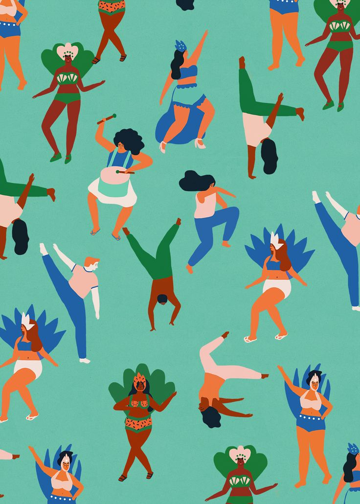 """naomiwilkinson: """" Rio pattern! """" Tag yourself. We're the disembodied leg in the lower left corner."""