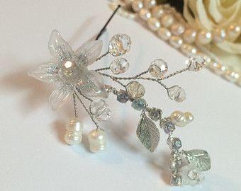 Set van 3 bruids haar pinnen bruiloft van FlowerRainbow op Etsy