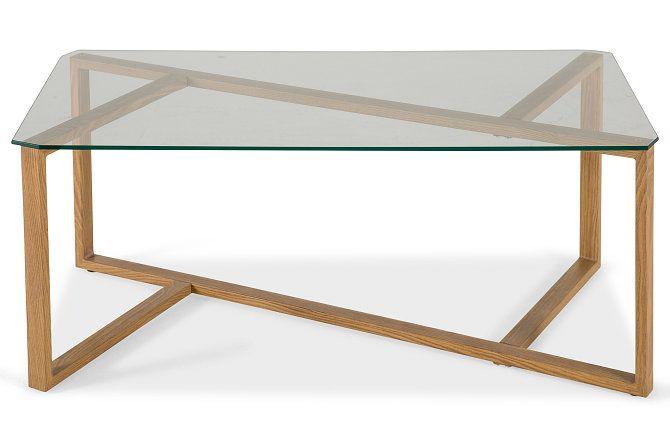 Cleo Soffbord 110x60 cm  - Glas/Askfolie | Trademax.se
