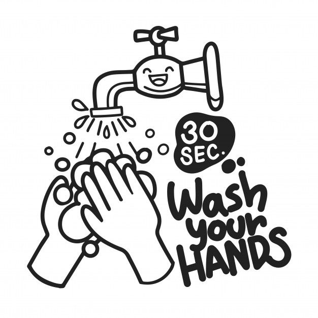 Hand Washing With Soap Icon Lettering Wash Your Hands Hand Drawn Illustration Of Black Color Isolated On White Background In 2020 Hand Sticker How To Draw Hands Hand Washing