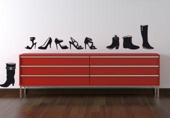 Muurstickers - Muursticker Schoenencollectie