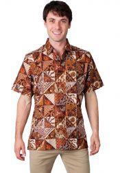 BATIK SEMAR  BATIK SEMAR Kemeja Batik Printing Red