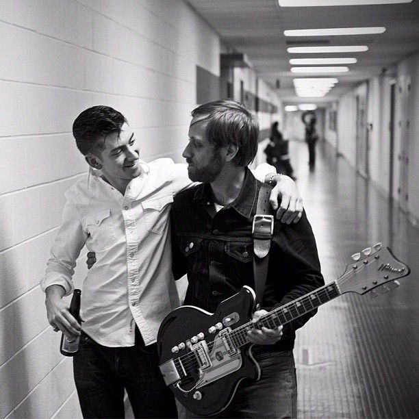 Two of my favorites! Alex Turner and dan Auerbach! I was lucky enough to see them together in the black keys el camino tour this year