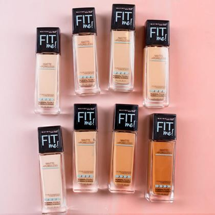 Fit Me! - Foundation, Blush, Bronzer, Concealer - Maybelline Recommended by YouTuber as high coverage foundation.