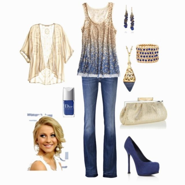 Date night - LOVe the ombre blue and accents!