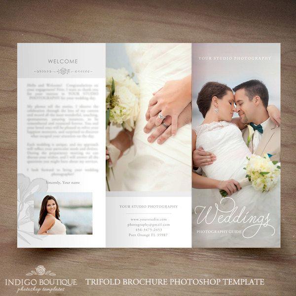 Matrimonio fotografia Brochure a tre ante di IndigoBoutique