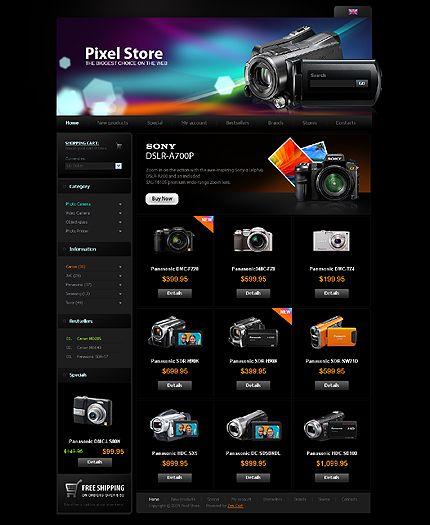 Pixel Photo ZenCart Templates by Mercury