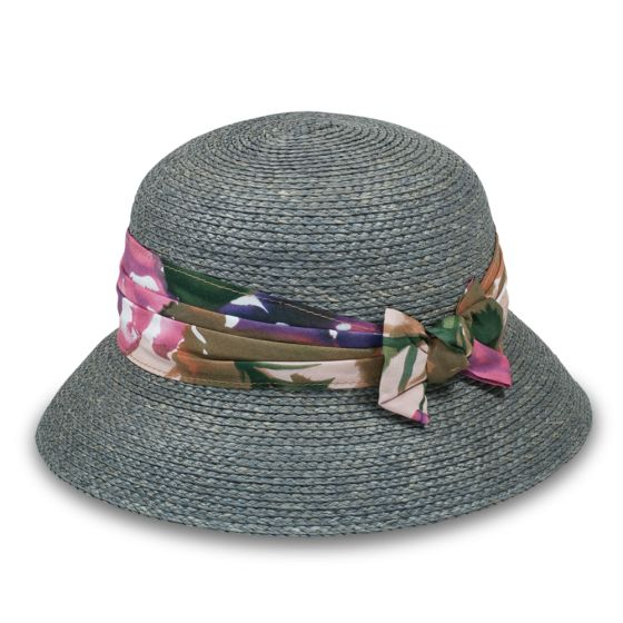 Grey and floral straw hat from Goorin Bros