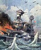 World War 2, BBC  (Illustration showing the attack on Pearl Harbor)