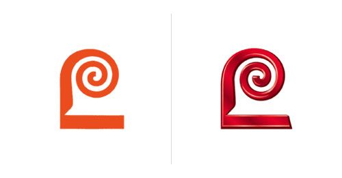 Lawry's logo. Original by Saul Bass and current. How photoshop has ruined good logo design.
