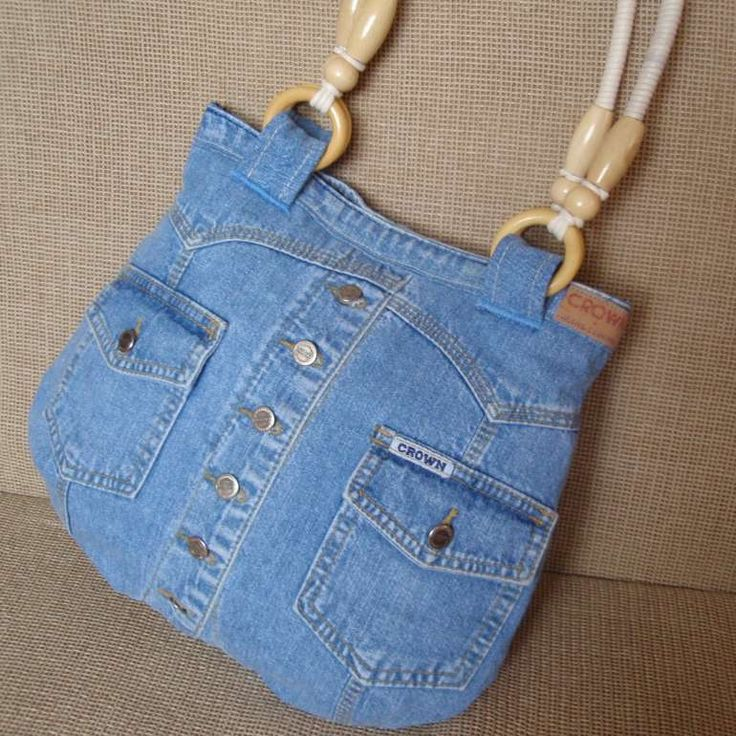 Made from a recycled jeans jacket- nice!