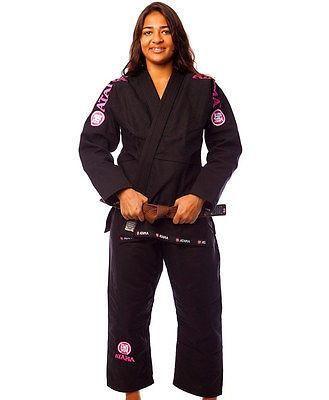 Atama Women's GI Mundial Model #9 - Black Brazilian Jiu Jitsu Judo Kimono
