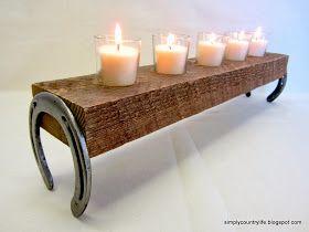 DIY: Horseshoe candle holder ...