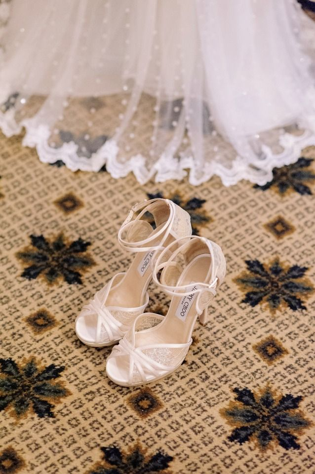 Jimmy Choo wedding shoes.. See more http://photographergreece.com/en/photography/wedding-stories/807-romantic,-elegant-wedding-at-island-prive-venue
