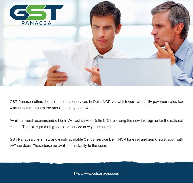 GST Panacea offers the best sales tax services in Delhi NCR via which you can easily pay your sales tax without going through the hassles of any paperwork.