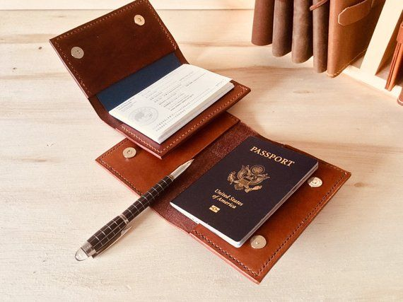 7593e074375b This leather travel passport holder is made from full grain ...