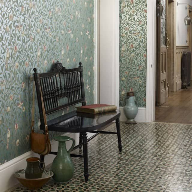 Die besten 25+ Tapeten mit muster Ideen auf Pinterest Vorhang - graue tapete wohnzimmerwohnzimmer fliesen beige matt