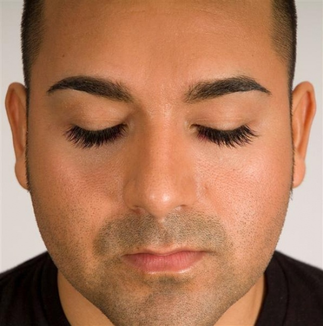 Perfect eyelashes men