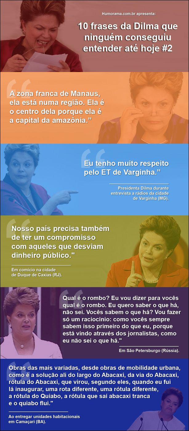 Frases engraçadas presidenta Dilma