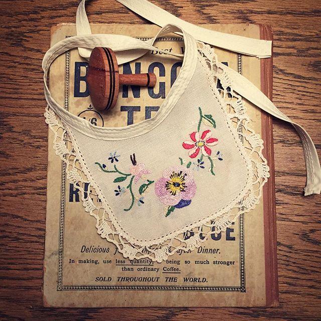 Handmade vintage-style bibs available soon..