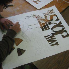 Activism through Stencils - high school art unit using stencils, spray paint and focusing on activism using art (photos, tips, and basic steps). #highschoolart #arteducation