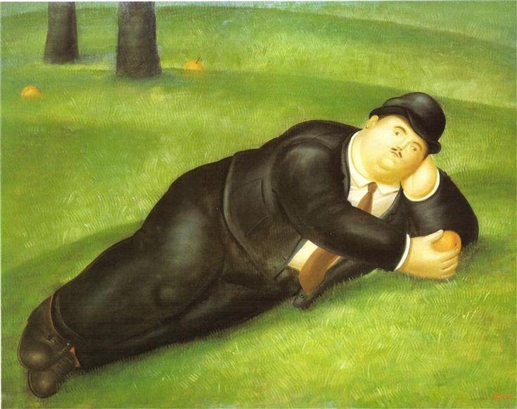 Man Reclining, 1978 - Fernando Botero
