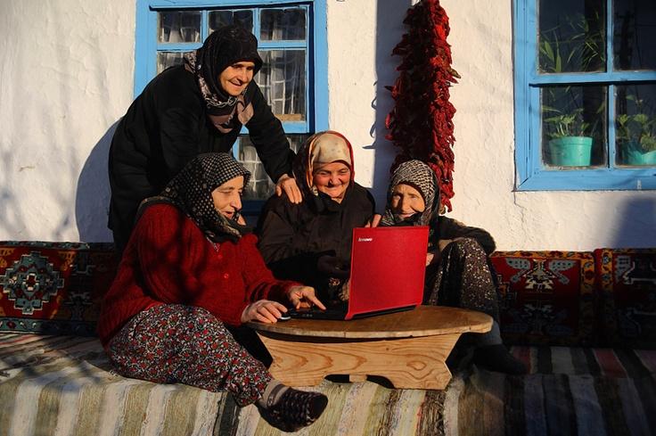 technological village grandmothers,  Kırklareli Turkey  More like them at https://www.pinterest.com/yrauntruth/grow-up-age-croning/