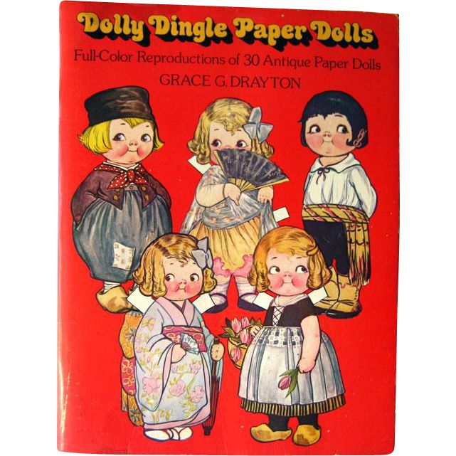 Dolly Dingle Paper Dolls by Grace G Drayton / Womens Magazine Paper Dolls / Gift Book / Campbell Soup Kids