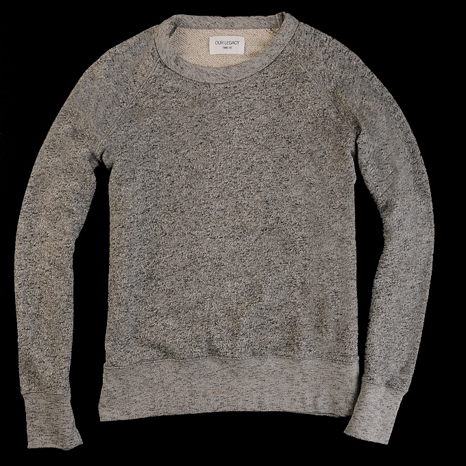 Our Legacy - Great Sweat 50s in Black Grey Melange