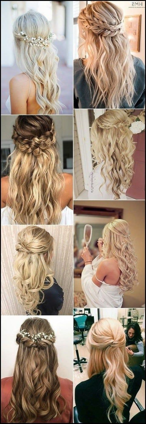 15 Chic Half Up Half Down Wedding Hairstyles for Long Hair