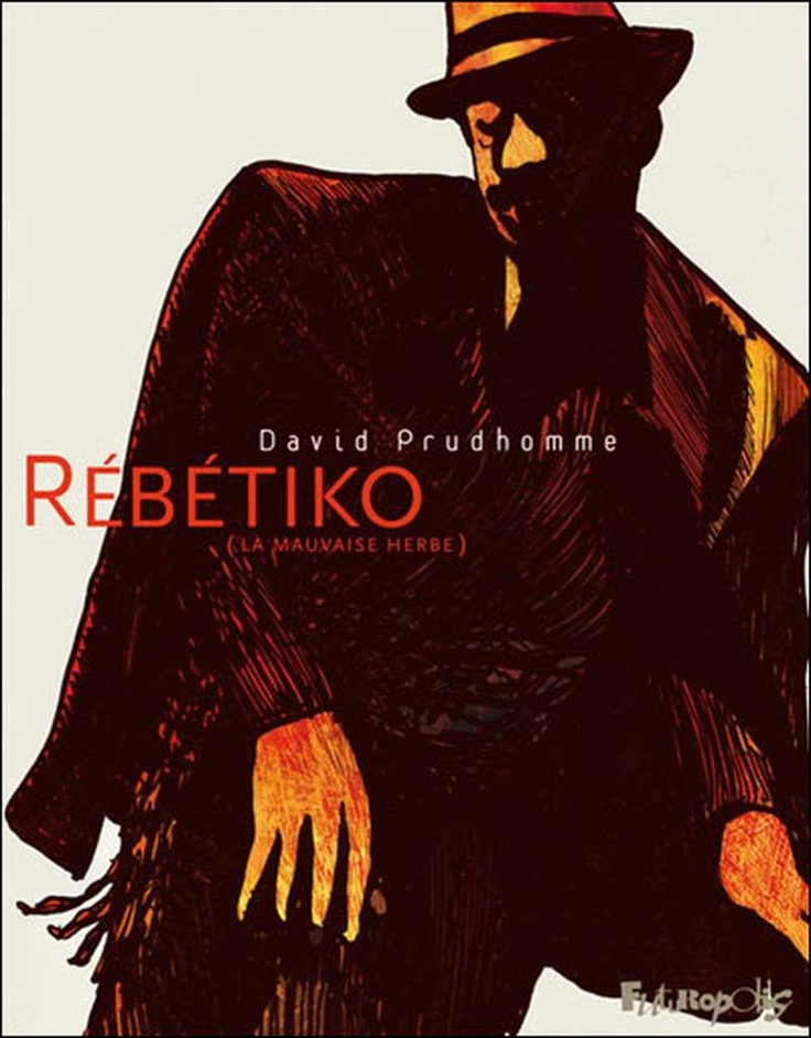 Rebetiko by David Prudhomme - Rebetiko is a fine piece of mythologising, and Prudhomme is clearly in love with both the music's urgent songs of exile and its outlaw imagery. The artwork's largely muted tones shift from sand to clay to inky blackness and into the thin light of morning as the gang move from alleyways to hash dens, spilling drink and spitting bravado as they sing and dance with an intoxicating desperation.