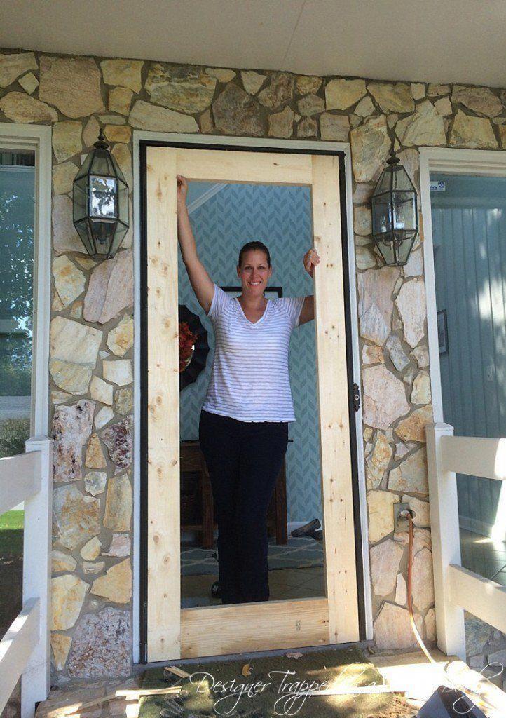 Diy Screen Door Tutorial Free Plans Diy Screen Door Screen Door Wooden Screen Door