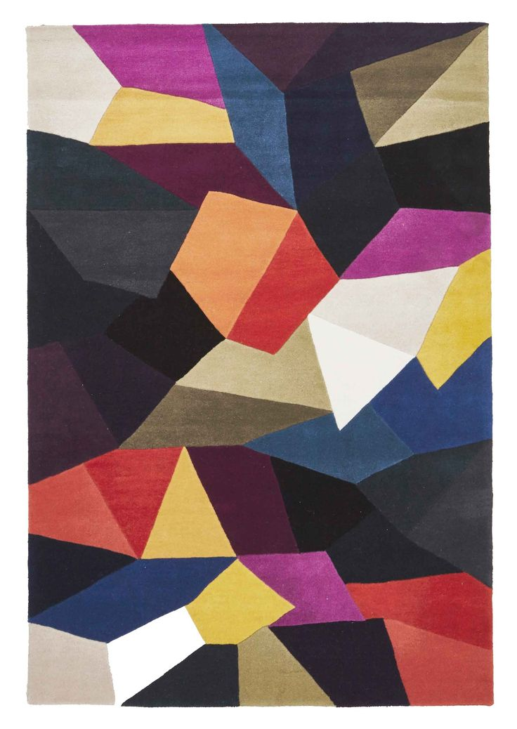 Stuttgart is a densely tufted pure wool rug featuring a geometric design…
