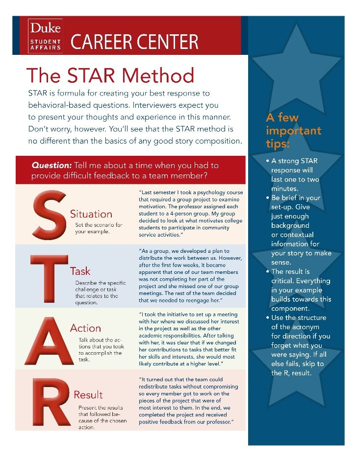 resume star approach