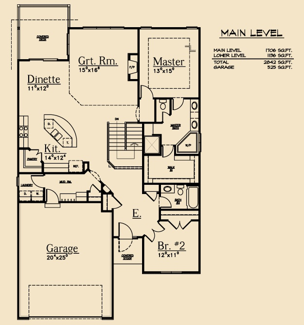 2842 164 Ranch Floorplan Dreamscape Homes Omaha