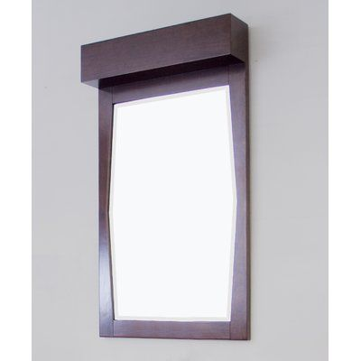 American Imaginations Transitional Wall Mirror Finish: Stainless Steel