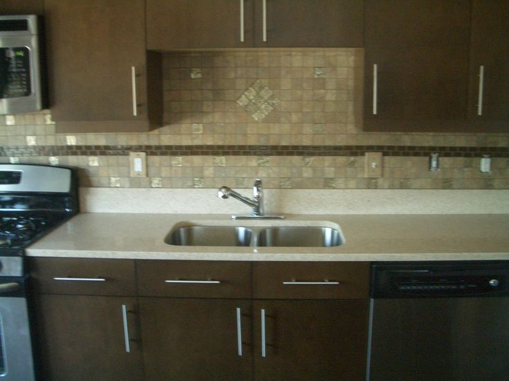 Backsplash For Espresso Cabinets Idea Kitchens Pinterest Ideas Cabinet Ideas And Espresso