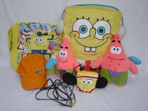 6 Lot SPONGEBOB TV Game Plush Pillow Patrick Doll Messenger Shoulder Bag Cap Hat - http://hobbies-toys.goshoppins.com/tv-movie-character-toys/6-lot-spongebob-tv-game-plush-pillow-patrick-doll-messenger-shoulder-bag-cap-hat/