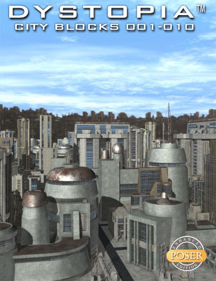 Dystopia City Blocks 001-010 (Poser)
