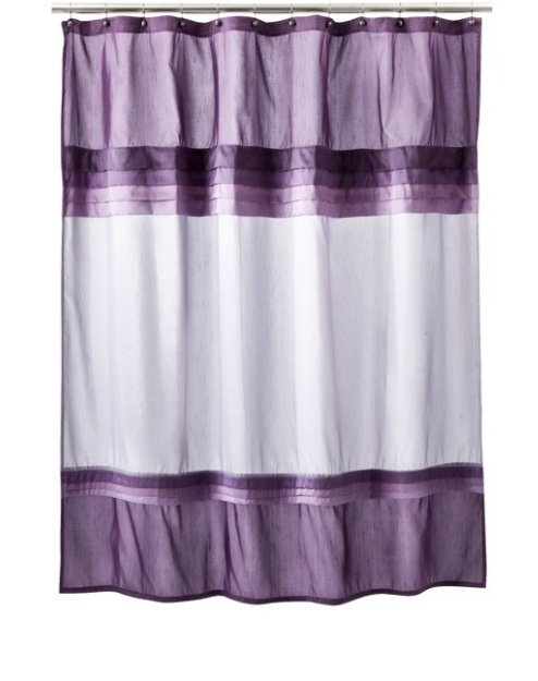 Purple shower curtain dream bathroom pinterest for Purple ombre shower curtain