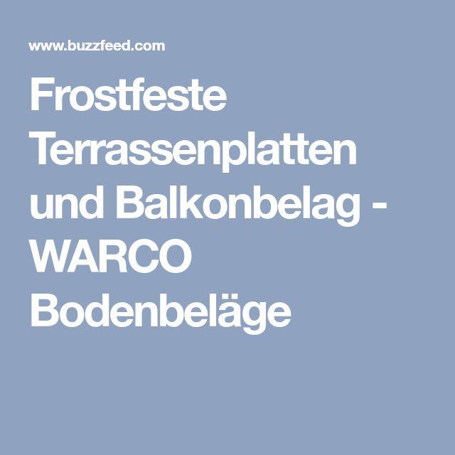 Frostfeste Terrassenplatten und Balkonbelag - WARCO Bodenbeläge