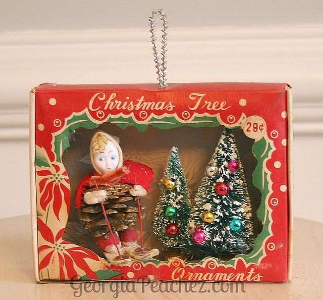vintage ornament box diorama christmas pinterest vintage ornaments vintage christmas and ornaments