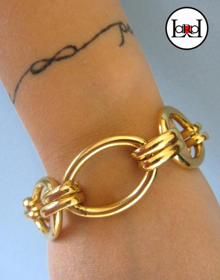 LARA ART Gold chain bracelet