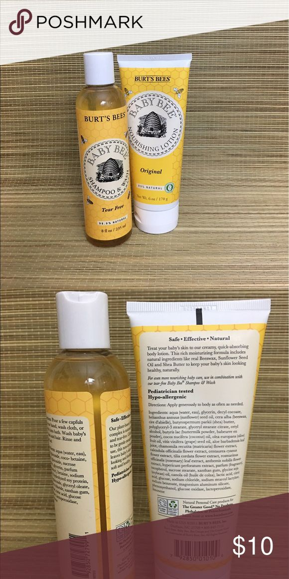 Burt's Bees Fragrance Free Shampoo Wash And Lotion Only used once Burt's Bees Baby Other
